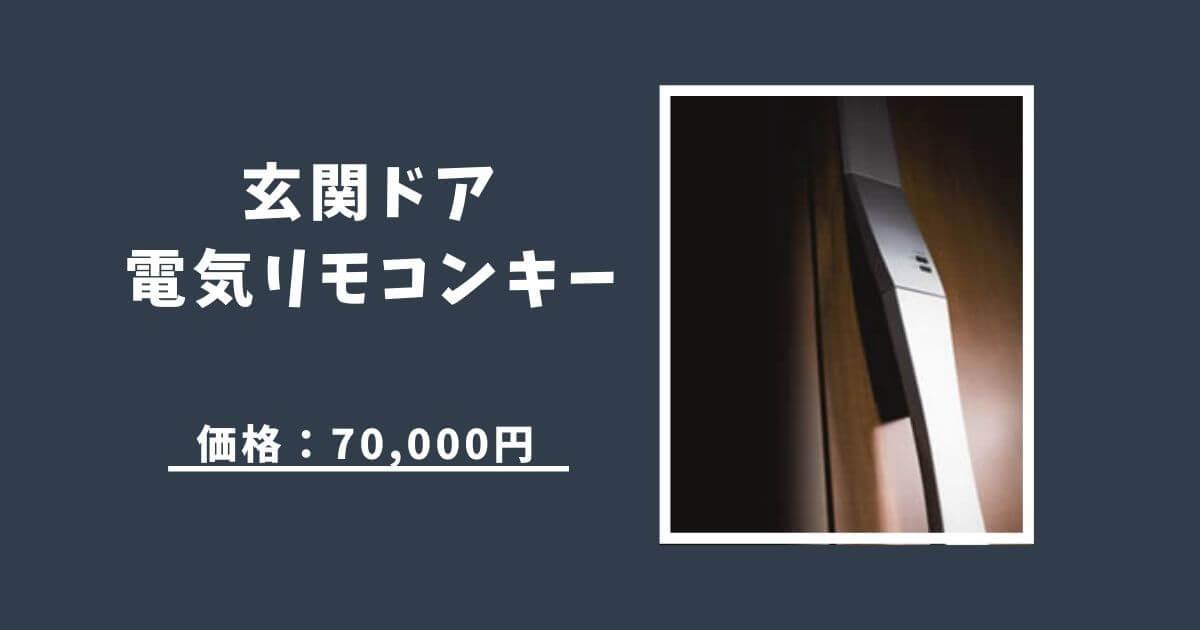 高額オプション第3位 玄関ドア電気リモコンキー