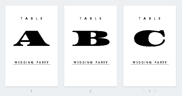 テーブルナンバーデザイン