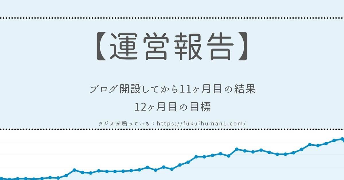 【1万PV達成‼】雑記ブログを開設してから11ヶ月目の運営報告【Wordpress】