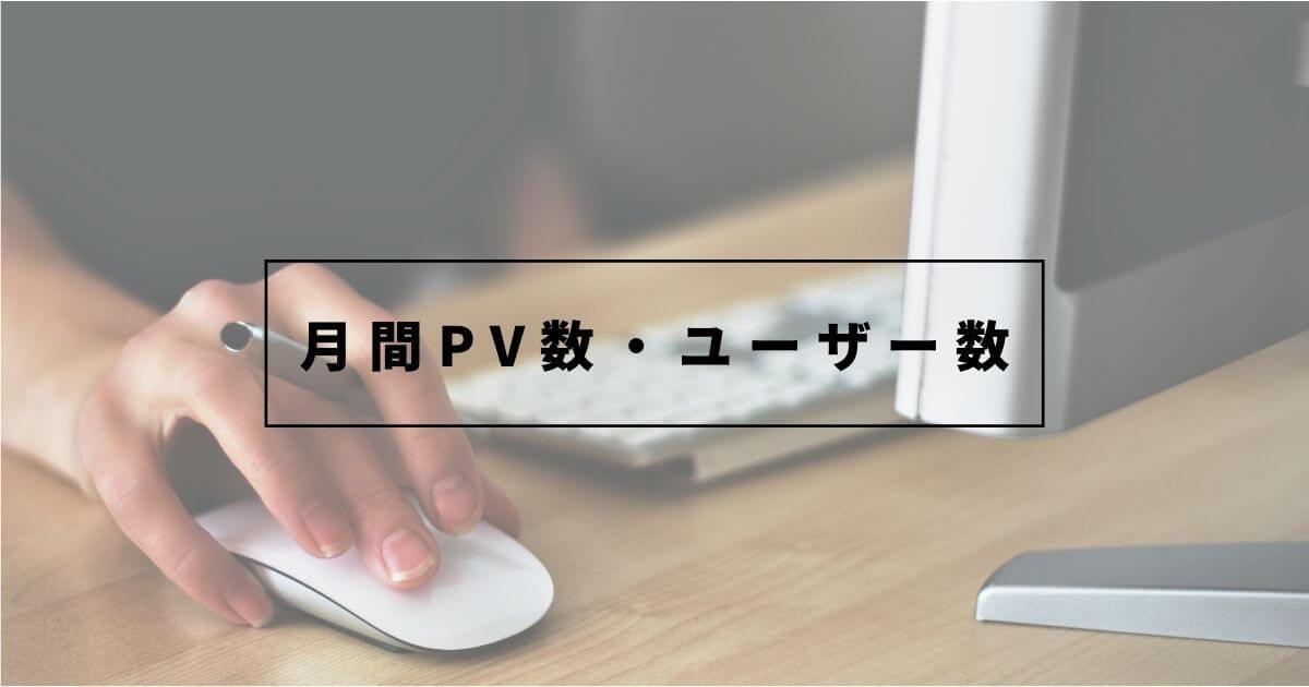 12ヶ月目の月間PV数・ユーザー数