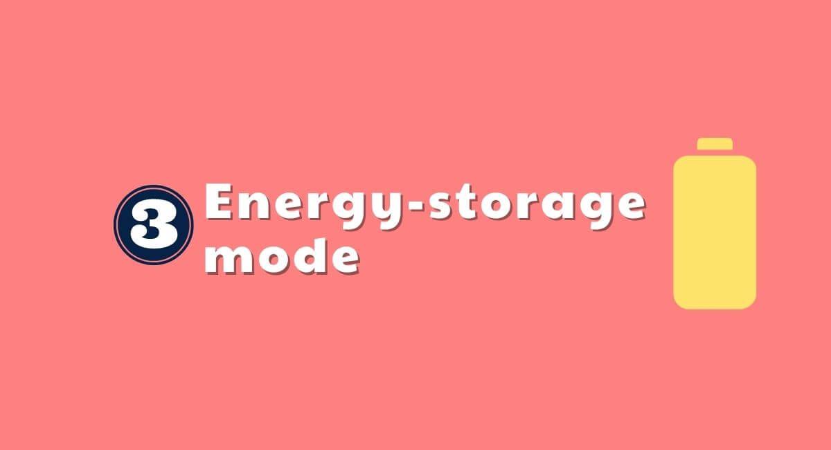 一条工務店の蓄電池モード③蓄電モード